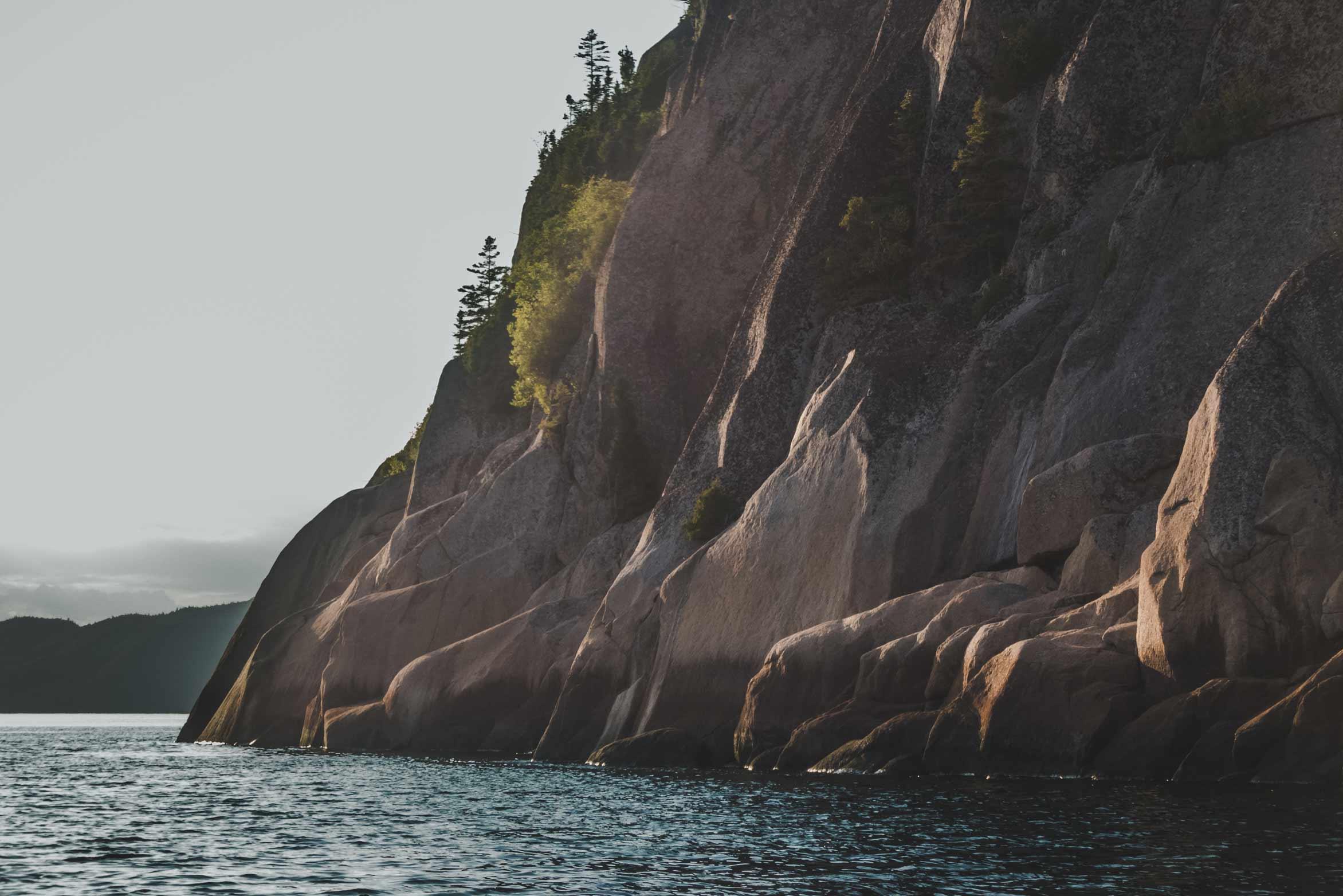 Falaise Fjord du Saguenay